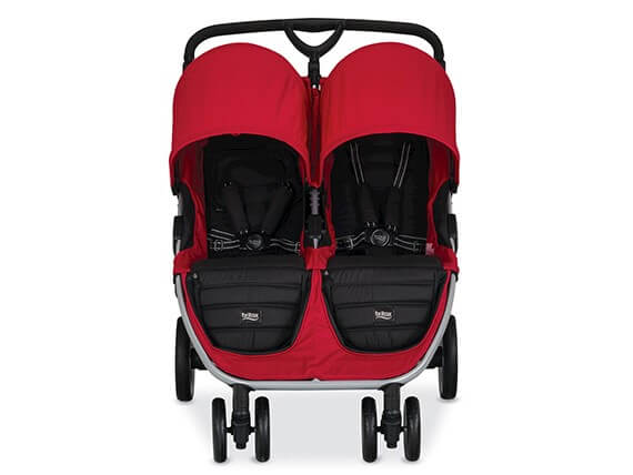 Britax B-Agile Double Stroller Red Font