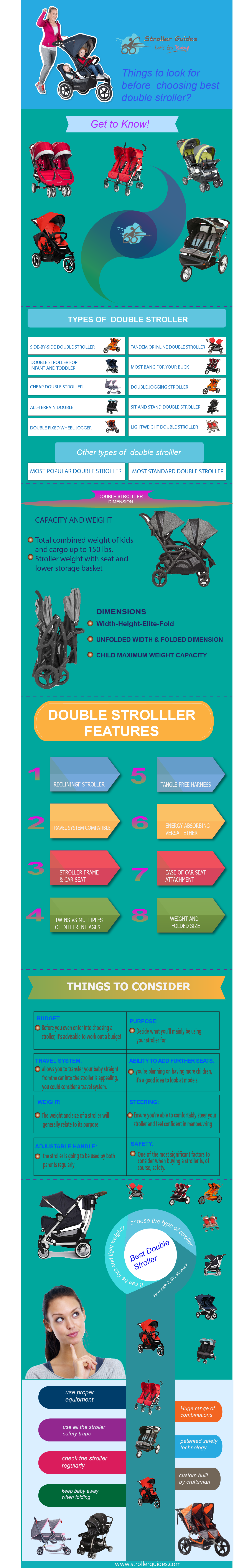 Things to look for before choosing best double stroller